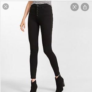 Express High Rise Button Fly Jean Legging